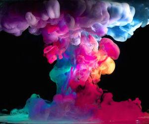 smoke, colors, and colorful image