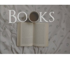autumn, bed, and books image