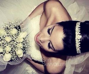 beautiful, makeup, and wedding image