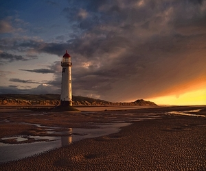 lighthouse, water, and nature image