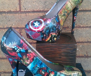 shoes, Avengers, and heels image