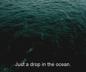 drop, ocean, and quote image
