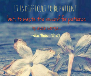 islam, patience, and quotes image