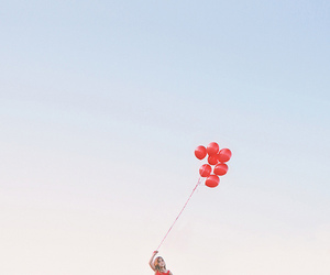 balloons, play, and red image