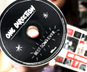 one direction, best song ever, and cd image