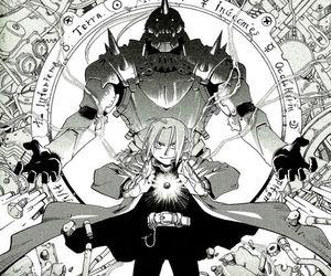 fullmetal alchemist, edward elric, and alphonse elric image
