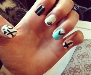 diamond, nail art, and xo image