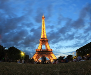 beautiful, blue, and eiffel tower image