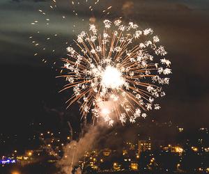 fireworks, light, and night image