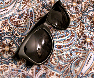 fashion, paisley, and sunglasses image