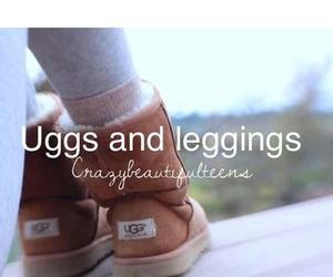 leggings, uggs, and love image