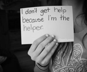 help, sad, and helper image