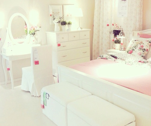 girl bedroom and white bedroom image