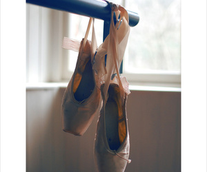 ballerina, dance, and shoes image