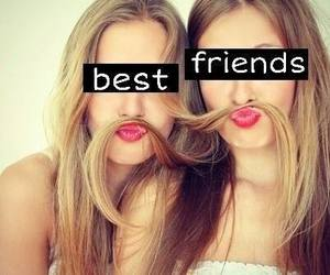 best friends, friend, and lips image