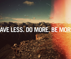 less, live, and more image