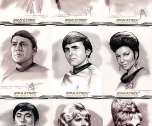 captain kirk, enterprise, and star trek image
