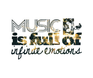 emotions, music, and quote image