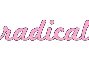 overlay, pink, and radical image