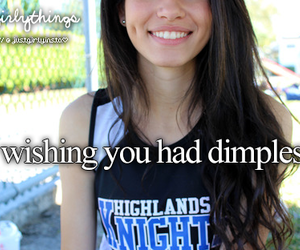 girl, dimples, and smile image