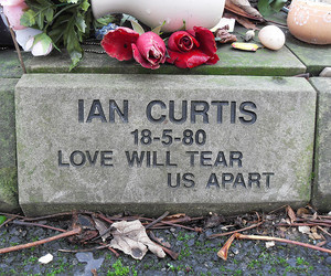 ian curtis, joy division, and grave image