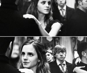 harry potter, hermione, and ron weasley image
