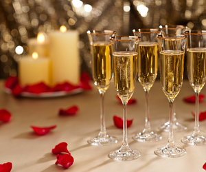 champagne and candles image