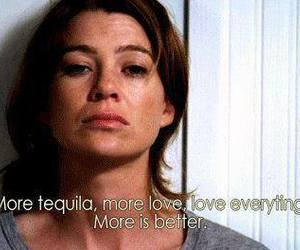 grey's anatomy, love, and tequila image