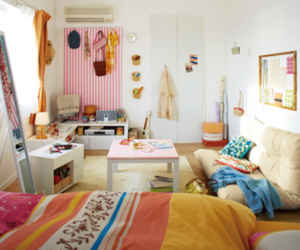apartment, art, and colorful image