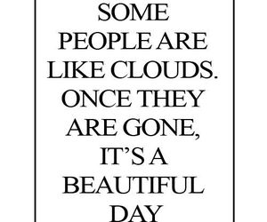 quotes, people, and clouds image