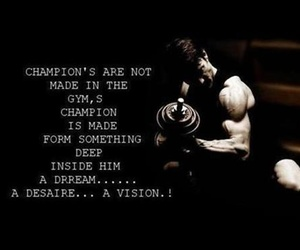 champion, gym, and vision image