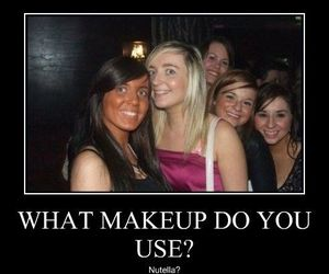 funny, nutella, and makeup image