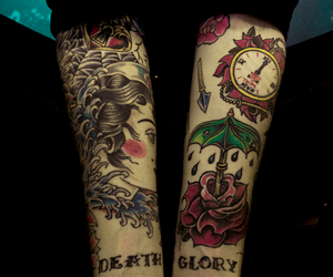 tattoo, arms, and death image