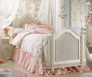 bedroom, pink, and vintage image