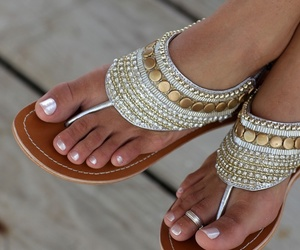 adorable, feet, and gold image