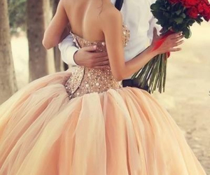 love, dress, and wedding image
