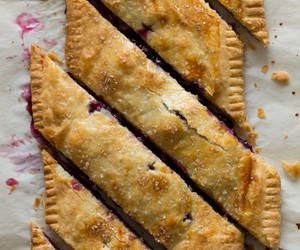 food, blueberry, and pie image
