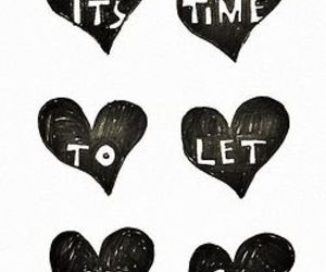 quotes, let it go, and heart image