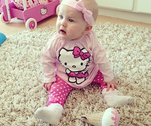 baby, hello kitty, and pink image