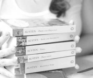 awn, book, and jane austen image