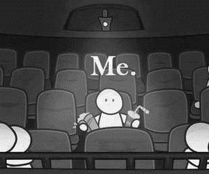 me, alone, and cinema image