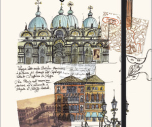 drawing, venezia, and venice image