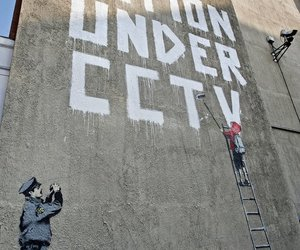BANKSY, cctv, and message image