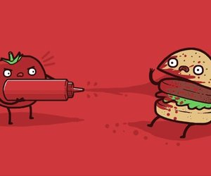 funny, tomato, and burger image