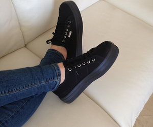 shoes, black, and jeans image