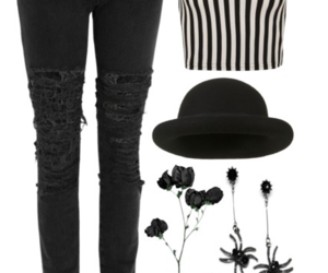 goth, Polyvore, and outfit inspiration image
