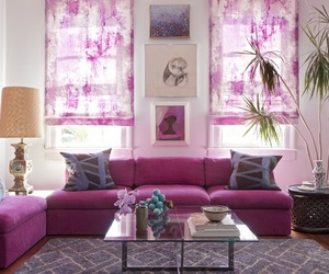 living room, windows, and pink image