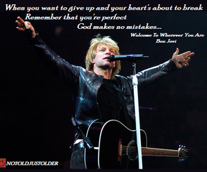life, bon jovi, and quote image