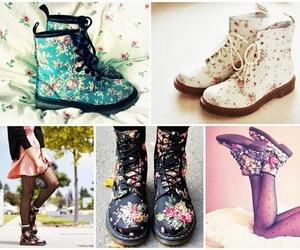 boots, shoes, and flower image
