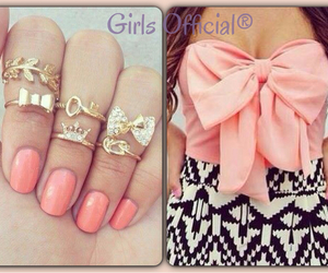 fashion, pink, and bow image